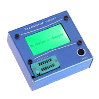 Wholesale Multi functional LCD Backlight Transistor Tester Diode Thyristor Capacitance ESR LCR Meter with Blue Aluminum Case