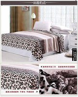 Wholesale NEW MT005 cm With thick warm Farley wool blanket coral fleece blankets leopard printed