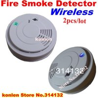 Wholesale New wireless smoke detector for home security alarm system wireless sensor smoke fire A5