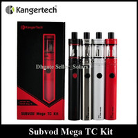 best tank tops - Authentic Kanger Subvod Mega TC Starter Kit mAh with ml Top Refilling Tank Micro USB Charging Best Flavour