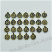 alphabet - 15X12MM DIY zakka alloy jewelry accessories antique bronze alphabet charm pendants tibetan silver initial charms letter charms