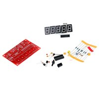 Wholesale 2Set MHz Crystal Oscillator Frequency Counter Meter Tester DIY Kit Digits Resolution