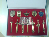 weapon - DHL new set The Legend of Zelda Weapon Sets Link Swords to cm Metal key Ring Necklace pendant Xmas Gift J010903