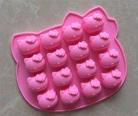 Nuovo arriva decora fondente ciao stampi in silicone figura del gattino ghiaccio gelatina torta al cioccolato per la torta di sapone pan