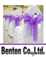 Wholesale llfa1299 Wedding Party Banquet Organza Sash Bows For Chair Cover COLORS X275cm