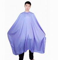 anti static hair - Nylon Hair Cutting Cape Long Shampoo Cape Salon Barber Cape Anti static Waterproof Red Black Blue White Color Mixed piece per DHL Free