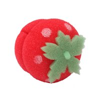 sponge hair curler ball - 1pcs Soft Sponge Ball Curlers Rollers Strawberry Hair curler L size Ship From USA Sets H00545