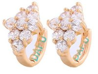 Wholesale DAFU Round Loop with High Quality AAA CZ small Hoop Earrings For Women Jewelry