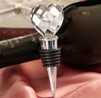 Wholesale 2016 Wedding favors and Event Party Return Gifts for guest Heart shaped crystal wine bottle stopper