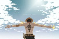 ace poster - One Piece ACE Strong World Anime Art Silk Poster x36inches
