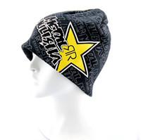 acrylic paint cans - HOT SALE can mix order Knit Visor Brim Beanie Hats Black Skulls Ski Caps Laser painted men hat