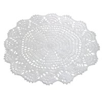 Wholesale New Fashion cm Vintage Style Floral Hand Crochet Handmade Cotton Beige Doily Cup Table Mat Doilies Crochet Placemat Coasters