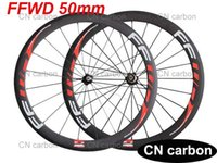 aero wheels bicycle - FFWD mm Clincher Tubular carbon road bike wheels carbon racing bicycle wheelset Novatec hub aero spokes