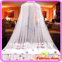 Wholesale Bed Netting Canopy Mosquito Net Dome Elegent Lace Insect Stopping Net Outdoor Color New