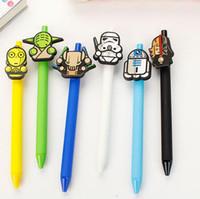 Wholesale DHL star wars pen Stationery Ballpoint Pens Cartoon Neutral Pen for Student School Gel pen Office supplies Star Wars Pens