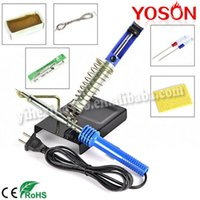 Wholesale 60W in1 Soldering Starter Tool Kits Set DIY Electric Soldering Iron Starter Tool Kit Set With Iron Stand Solder Desoldering Pump