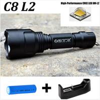Wholesale Drop shipping Lantern C8 CREE Led Flashlight Lumens lanterna Led CREE XM L2 Torch Light Camping Flash Light lampe Battery Charg