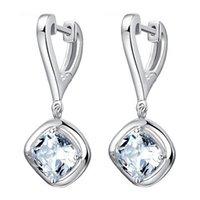 Wholesale 925 Sterling Silver Noble Elegant Earrings Korean Fashion Drop Long Section Earrings Cubic Zirconia Jewelry Female Models