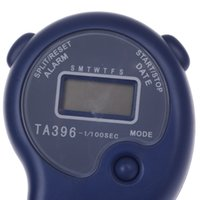 "Cheap KTJ TA396 1"" LCD Sports Stopwatch w Time Date Week Display - Blue (1 x CR2032)"