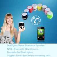 Cheap Wireless Bluetooth NFC Speaker Hands-free Mini Speaker NiZHi TT-026 Colorful LED Button Control for iPhone Samsung Hot Sale