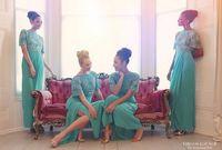 Cheap Arabic Sheath Short Sleeves Bridesmaid Dresses Cowl Back Shiny Sequins Floor Length Girls Party Dresses