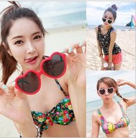 Wholesale heart glasses cheap sunglasses heart shaped sunglasses influx of people love retro oversized mirror Hot style women