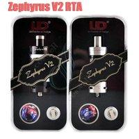 Mejor UD Zephyrus V2 Tanque 6ml sub ohm tapa del tanque Youde RTA OCC Dual 1: 1 Clone SS Bobina de cerámica Vapor Mods e cigarrillos vaporizador RDA DHL