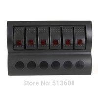 Wholesale New Waterproof Black Gang Marine Boat Caravan Red LED Rocker Switch Panel