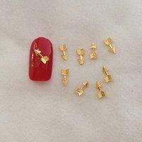arrow decorations - Japan CLOU bag Nail Art Decoration Gold Silver Short Arrow Mental Nail Polish Sticker Nail Tools