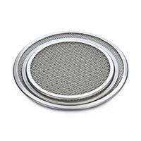 aluminium screen mesh - quot Seamless Rim Aluminium Mesh Pizza Screen Baking Tray Pizza Screen Net Cookware Bakeware Baking Tool Pizza Tool Free