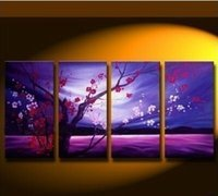 Cheap 4pc Large Modern Abstract Wall Decorate Art Oil Painting Art Deco(No Frame)