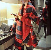 Wholesale 2016 women fashion Plaid Scarf Warm Soft Winter Blanket Scarf Oversized Tartan Scarf women Shawl Scarf