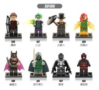 batting material - X0106 Super heroes bat girl Joker Dr Doom Plastic Toys Building Blocks for Kids Environment Friendly Materials Mini Figures