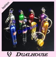 Wholesale NEW Fashion Anodised NOS Turbo Keychain Mini Nitrous Oxide Bottle Keyring Key Chain Keyring Key Chain Ring Keyfob