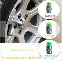 air pressure sensor - 2015 New Set Car tyre Tire Pressure Monitor Indicator Air Alert Tire Valve Stem Cap Sensor Color Eye Alert Bar set