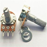 Wholesale High Quality K Ohm B50K Knurled Shaft Linear Taper Potentiometer Electronic Components Potentiometers