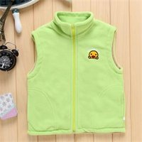 Wholesale European And American Children s Wear Vest Small Optical Head Pattern Male Virgin Child Fleece Waistcoat Vest C