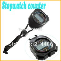 Wholesale Digital Chronograph Sports Stopwatch Counter with Strap Hot Selling