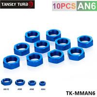 Wholesale Tansky High Quality AN AN6 AN quot BULKHEAD BLUE ALUMINUM FINISH NUT SEAL LOCKING FITTING TK MMAN6