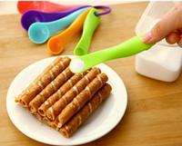 Wholesale 5pcs set Quantitative tea spoon PP plastic round Milk powder salt sugar coffee Measuring Spoons hot sale