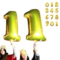 apply golds - CM Fashion party applies Gold Number Foil Balloons Party Wedding decoration Balloon Birthday Balloon