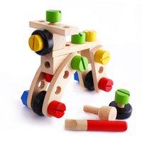 air plane kits - Baby DIY Wooden Air Plane Model Assembly Nut Screw Building Blocks Toys Tools Kit