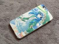 al por mayor caso del iphone 5c del animado-Anime barato UNA FECHA DE HUELGA UNA VIVA Cubierta del caso de Yoshino para el iPhone 5 / 5S / 5C / 6 / 6Plus Cajas del teléfono celular Shell de protección del silicio