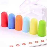 Wholesale 10 Pairs Candy Color Soft Foam Anti noise Noise Reduction Earplug Ear Plug for Travel Sleep Rest Hearing Protection ZH200