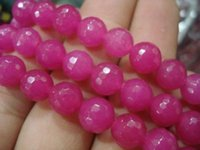 Wholesale mm mm mm mm Faceted Rose Ruby Gems Round Loose Bead
