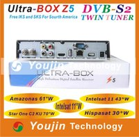 Wholesale Fta satellite receiver decodificador ultra box z5 receptor satellite Tocomfree s928s iks sks free south america tocomfree i928
