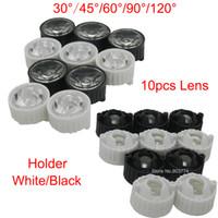 Wholesale Led Lens Degree for diy w w Aquarium grow led light Black White Holder Plano Lens Reflectors