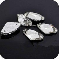 Wholesale 240pcs mm Top Axe Clear Crystal Sew on Rhinestones Diamond Flatback hole Rhinestones