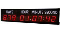 Wholesale 4 Large Character Red Digits LED Countdown Clock Countdown Count Up Days Up To Days For Special Events Home Office Store