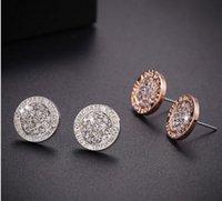 alphabet jewellery - Womens Mens Rhinestone Crystal Studs Earrings Jewelry Fashion Round Love Heart Stud Earring Jewellery Wedding Engagement Gift